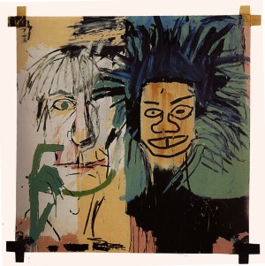 Jean-Michel Basquiat, Dos Cabezas, 1982. A self portait with Andy Warhol